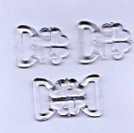 CB2C Clover Leaf Bikini Buckle Sets: Clear- Choice of Size